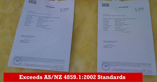 Glass wool for Australia AS-NZS 4859