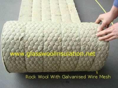 Rock wool wire mesh rock wool with galvanised wire mesh for Mineral wool insulation weight