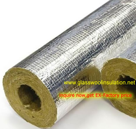 Rockwool Pipe Section Insulation With Foil outside